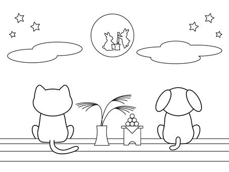 Fun coloring_moon viewing