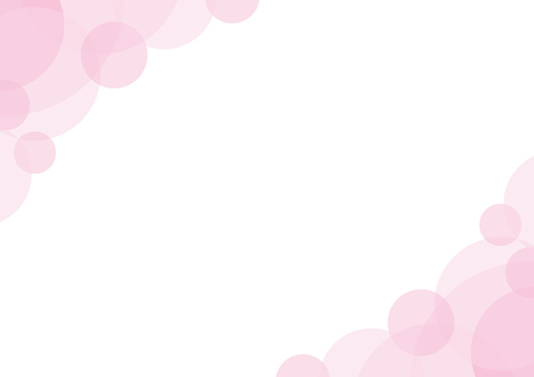 Frame background pink curved circle