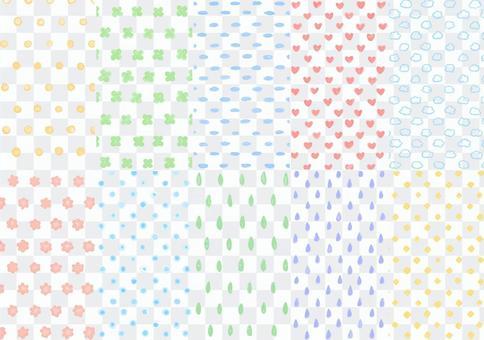 手繪水彩風格無縫模式1