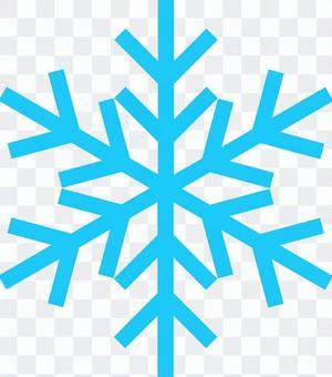 简单的雪晶(浅蓝色)