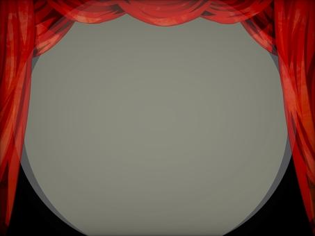 劇院紅幕舞台幕布背景