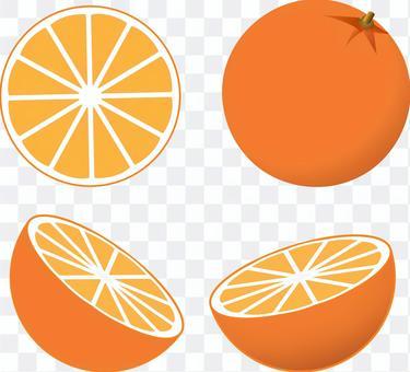 Orange navel orange peel