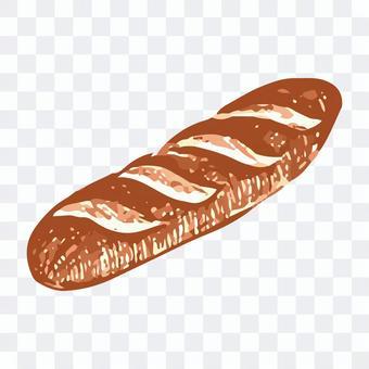 フランスパンのスケッチイラスト