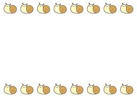 13個frames_snail,帶線條,頂部和底部