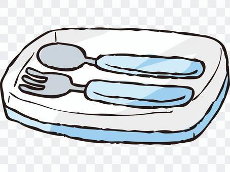 勺子/叉子套装(蓝色)