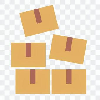 Cardboard stacked in pieces