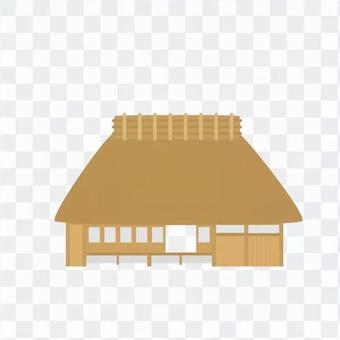 Straw climbing roof