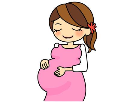 Pregnant woman (prenatal) brown hair