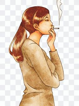 抽煙的女人
