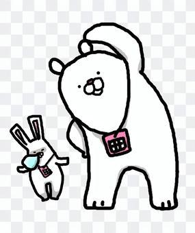 行使白色熊的無線電