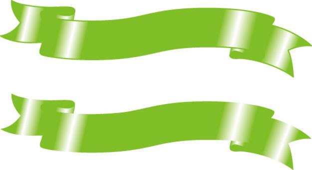 eps飾り リボン 黄緑