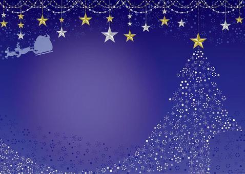 閃閃發光的聖誕卡藍色