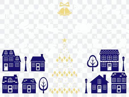聖誕節剪影裝飾材料集