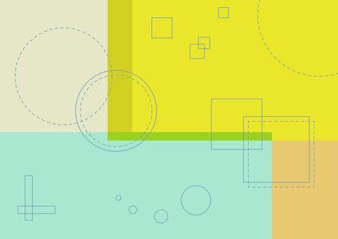 方形和圓形幾何壁紙背景
