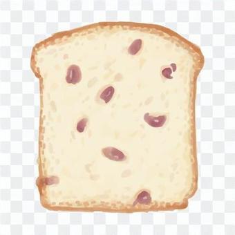 葡萄乾麵包水彩風格插畫