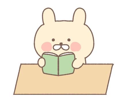 閱讀書籍閱讀閱讀圖書館學習學習兔