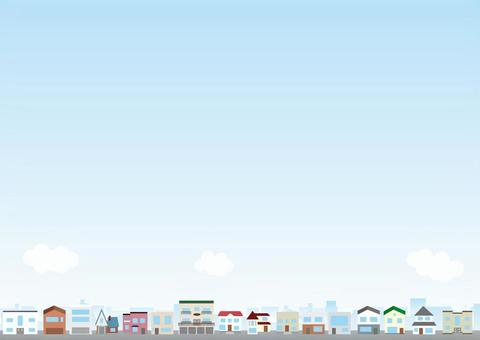 Cityscape Background Series Residential Area 1