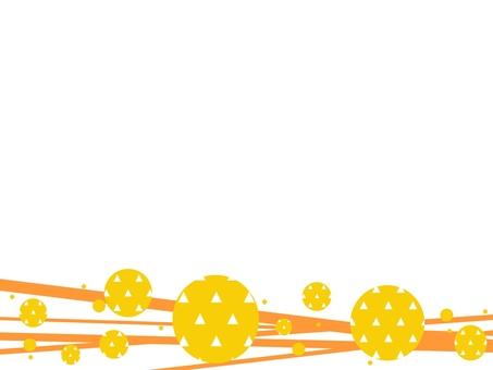 日本圖案框架_線條和比例圖案_B