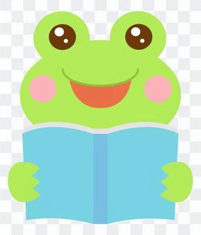 読書 本を読む カエル 蛙