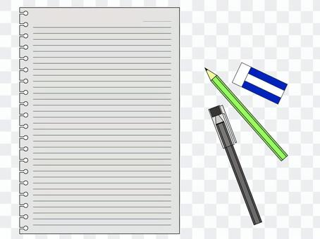 Cut writing instrument and loose-leaf
