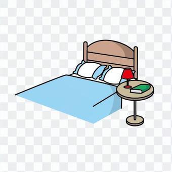 双人床和表