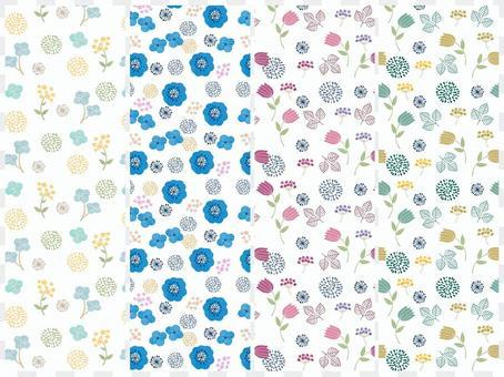 북유럽 바람꽃 무늬 패턴