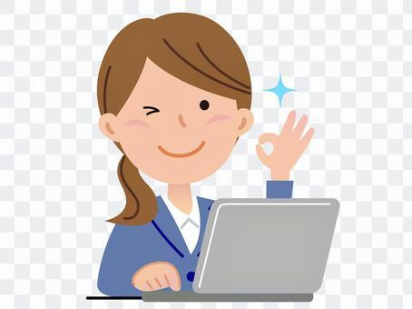 女個人電腦,西服2