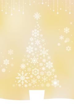 Snowflake / tree (gold)