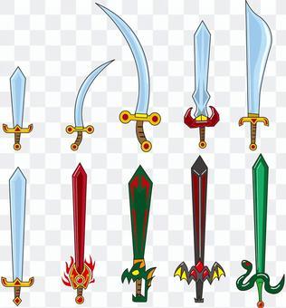 Various sword sets