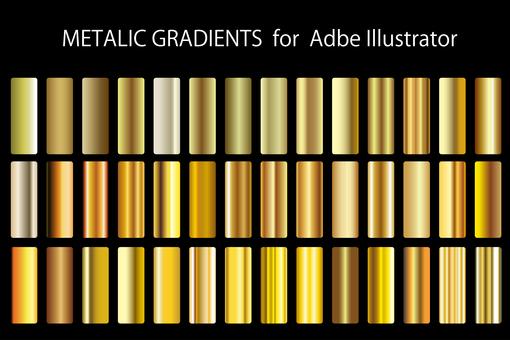 Metal color gradient set