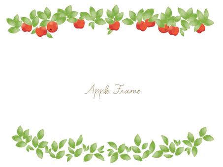 Autumn simple apple frame