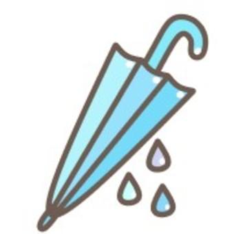 傘雨可愛柔和生命雨滴