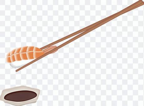 寿司 寿司屋 海老 蒸し海老 生 箸
