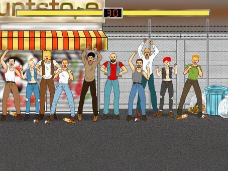 與HP背景的風背景戰鬥遊戲