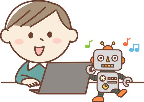 Boy robot programming