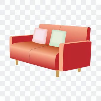 二人沙發(紅色)