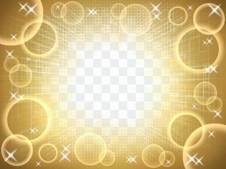 金色背景框架圓