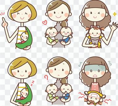 Simple person _ mother and baby