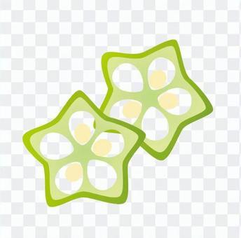 秋葵的圓片