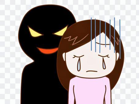 陰影的東西不好的女人