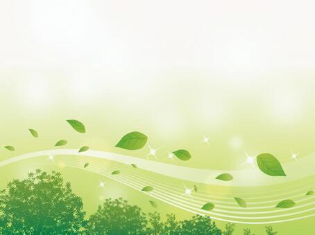 波光粼粼的溪流兩旁樹木和樹葉背景01