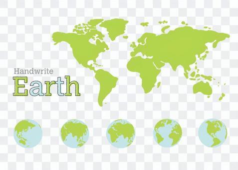 世界地圖,地球,筆跡