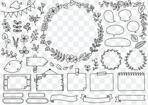 手繪框架集10_綠色