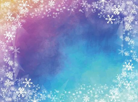 クリスマス背景素材 水彩ベクター098