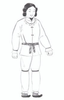 【Handwritten】 Ancient man · Japanese myth (fist fist)