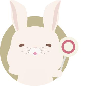 Placard_Rabbit_White_Circle