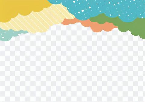 雲背景素材帶有流行圖片2