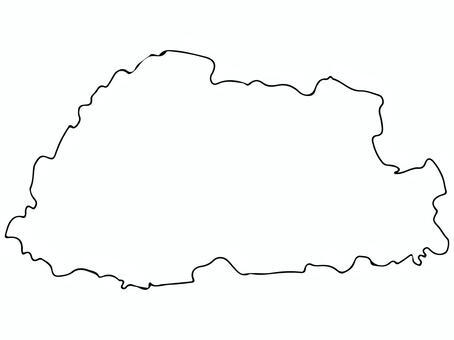 ブータン地形