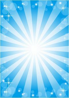 背景框(集中線,圓圈/閃光,淺藍色)