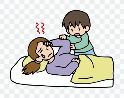 做父母的母親生病了,母親被孩子喚醒了